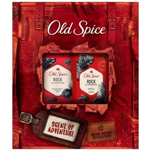 Old Spice Gift Box Rock Adventure Shower Gel + Shampoo 250ml  & Antiperspirant Deodorant Stick 50ml