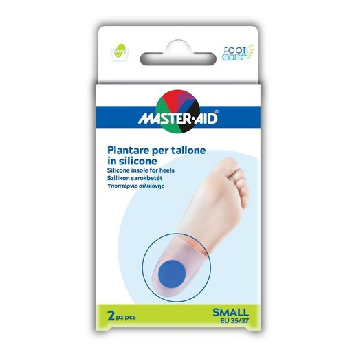 Master Aid Silicone Insole For Heels Υποπτέρνιο Σιλικόνης 2 Τεμάχια