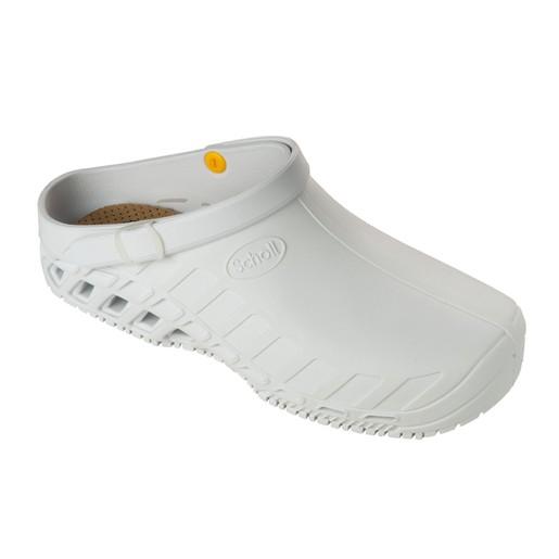 Scholl Shoes Clog Evo White Άσπρο Επαγγελματικά Παπούτσια, Χαρίζουν Σωστή Στάση & Φυσικό Χωρίς Πόνο Βάδισμα 1 Ζευγάρι