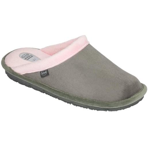 Scholl Shoes New Brienne Γκρι / Ροζ Ανατομικές Παντόφλες Εξαιρετικά Άνετες, Εύκαμπτες και Απαλές 1 Ζευγάρι