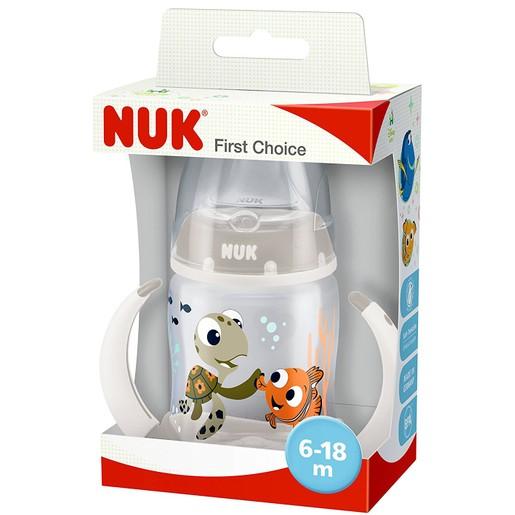 Nuk First Choice Disney Finding Dory Μπιμπερό Εκπαίδευσης με Ρύγχος Σιλικόνης (6-18 Μηνών) 150ml