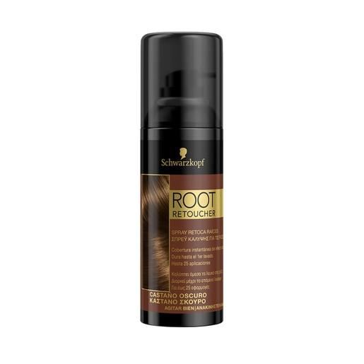 Schwarzkopf Root Retoucher Spray που Καλύπτει τα Λευκά στις Ρίζες, Καστανό Σκούρο 120ml