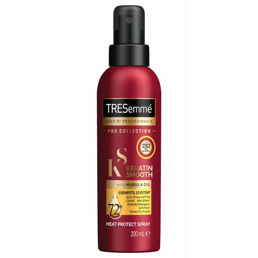TRESemme Keratin Smooth Heat Protect Spray With Marula Oil Προστατευτικό Spray με Έλαιο Κερατίνης & Κατά του Φριζαρίσματος 200ml