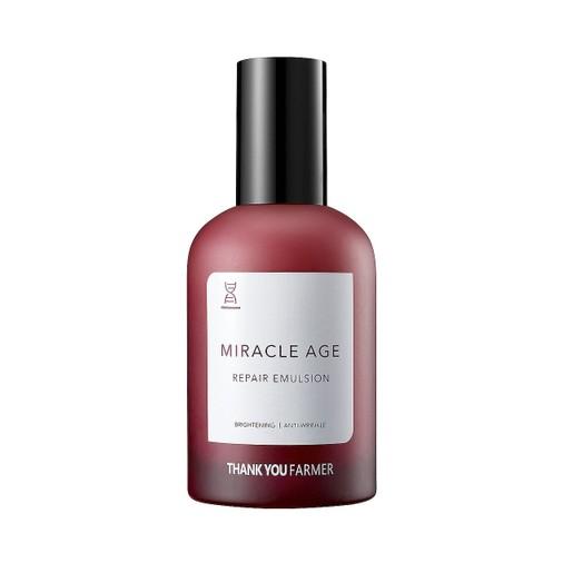 Thank You Farmer Miracle Age Repair Emulsion Πλούσιο Γαλάκτωμα Θρέψης που Δημιουργεί Απαλό Δέρμα Γεμάτο Ζωντάνια 130ml