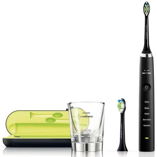 Philips Sonicare DiamondClean Black Edition Επαναφορτιζόμενη Ηλεκτρική Οδοντόβουρτσα για Λαμπερά Δόντια & Υγιή Ούλα