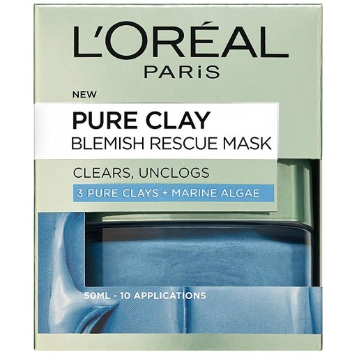 L\'oreal Paris Pure Clay Blemish Rescue Face Mask 50ml