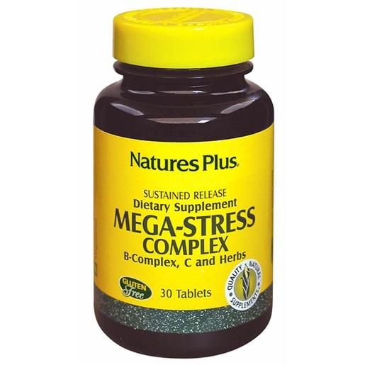 Nature\'s Plus Mega Stress Complex Ισχυρή Φόρμουλα Κατά του Άγχους 30tabs