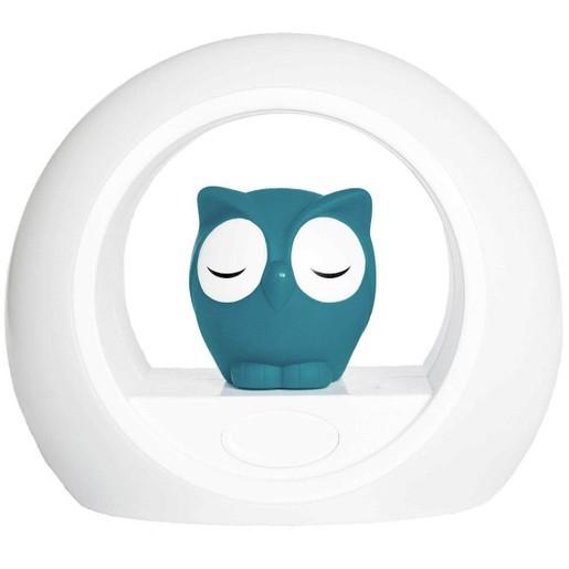 Zazu Lou the Owl Nightlight With Sound Sensor Κουκουβάγια Φωτάκι Νυκτός σε Μπλε Χρώμα, με Αισθητήρα Απενεργοποίησης