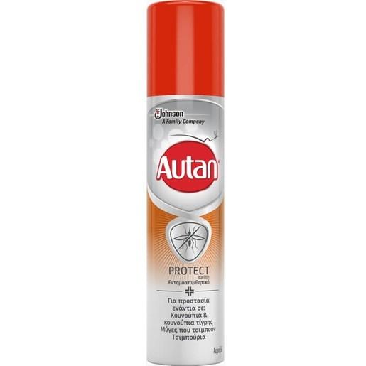 Autan Protect Εντομοαπωθητικό Spray για Προστασία Από Κουνούπια, Μύγες & Τσιμπούρια 100ml