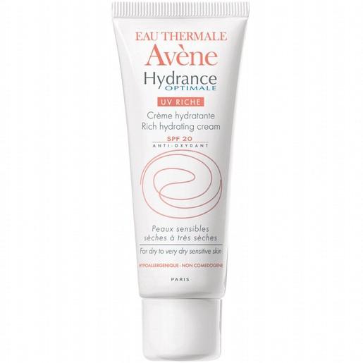 Avene Hydrance Optimale UV Riche Προστατευτική Ενυδατική Κρέμα για Ξηρό - Πολύ Ξηρό Δέρμα Spf20 40ml