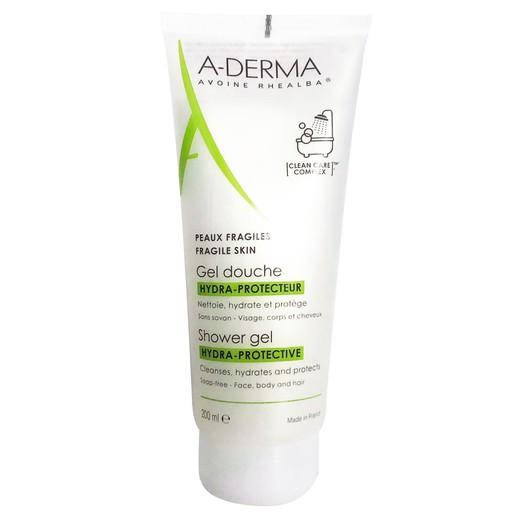 A-derma Shower Gel Hydra-Protective Αφρόλουτρο για Ευαίσθητες Επιδερμίδες 200ml