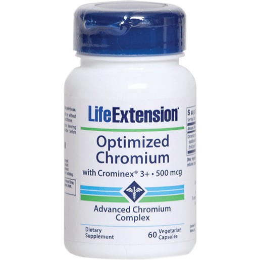 Life Extension Optimized Chromium Συμπλήρωμα Διατροφής Συμβάλλει στη Διατήρηση των Φυσιολογικών Επιπέδων Γλυκόζης στο Αίμα 60cap
