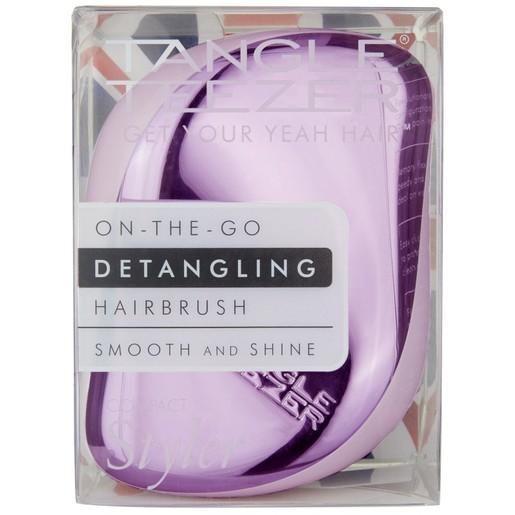 Tangle Teezer Compact Styler Detangling Hairbrush Lila/Chrome Ξεμπερδεύει τα Μαλλιά και Απομακρύνει Εύκολα τους Κόμπους 1τεμάχιο