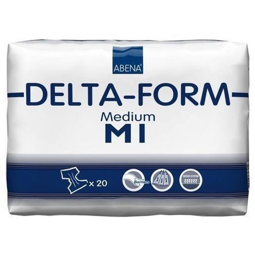 Abena Delta-Form Adults Πάνα για Βαριάς Μορφής Ακράτεια Ενηλίκων Μεσαίο Μέγεθος 70-110cm Delta M1 20τεμάχια