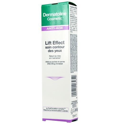 Dermatoline Cosmetic Anti-Age Lift Effect Eye Cream Συσφιγκτική Κρέμα Ματιών, Μειώνει τις Σακούλες & τους Μαύρους Κύκλους 15ml