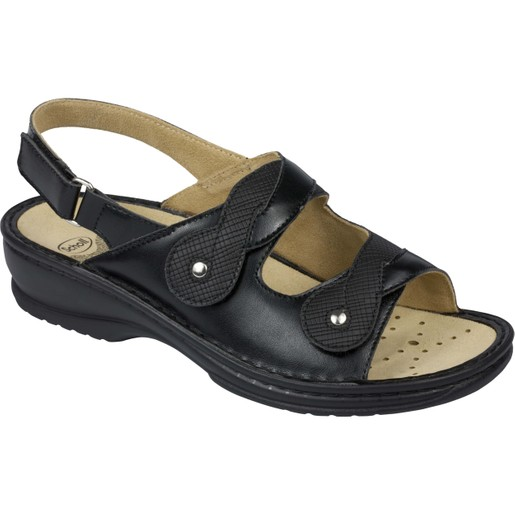 Scholl Shoes Doronina B/S Μαύρο Γυναικεία Ανατομικά Παπούτσια Χαρίζουν Σωστή Στάση & Φυσικό Χωρίς Πόνο Βάδισμα 1 Ζευγάρι