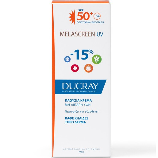 Ducray Melascreen UV Creme Rich Spf50+ Dry Touch Πλούσια Αντηλιακή Κρέμα Πολύ Υψηλής Προστασίας 40ml Promo -15%