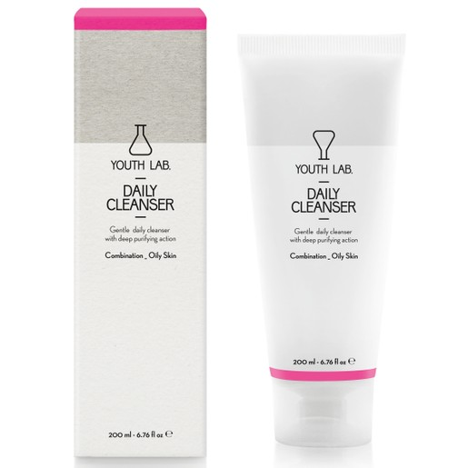 YOUTH LAB. Daily Cleanser Combination Oily Skin, Τζελ Καθαρισμού για Λιπαρές - Μικτές Επιδερμίδες 200ml