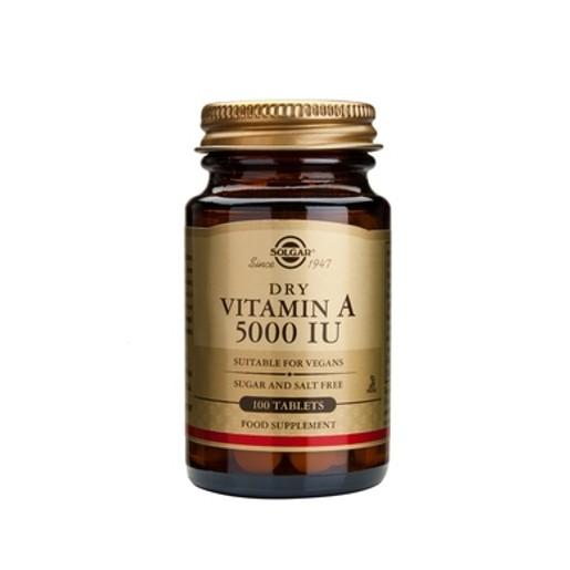 Solgar Vitamin A Dry 5000IU 100 tabs