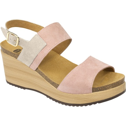 Scholl Shoes Elara Ροζ Γυναικεία Ανατομικά Παπούτσια Χαρίζουν Σωστή Στάση & Φυσικό Χωρίς Πόνο Βάδισμα 1 Ζευγάρι