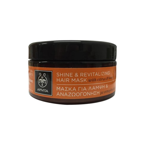 Shine & Revitalizing Hair Mask With Citrus & Honey 200ml - Apivita