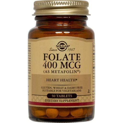 Solgar Folate 400mcg (as Metafolin) Φολικό Οξύ 50 tabs