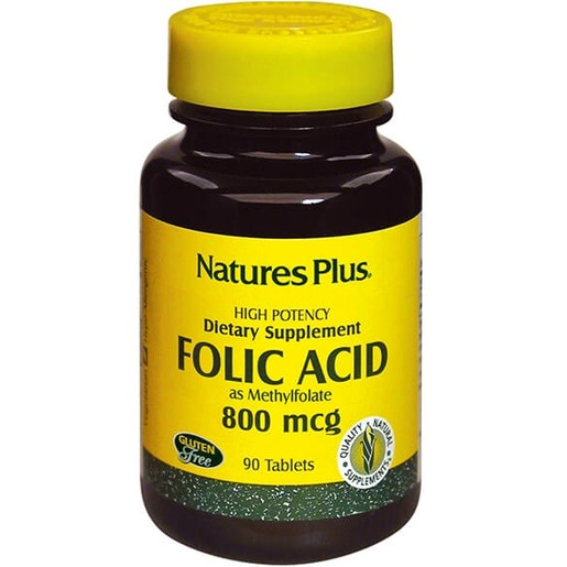 Nature\'s Plus Folic Acid Φυλλικό Οξύ 800mcg 90tabs