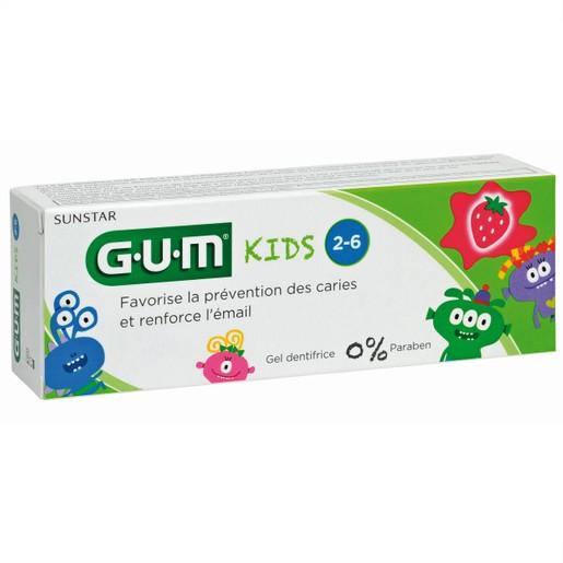 Gum Kids Παιδική Οδοντόκρεμα 2-6 ετών με Γεύση Φράουλα 500ppm 50ml