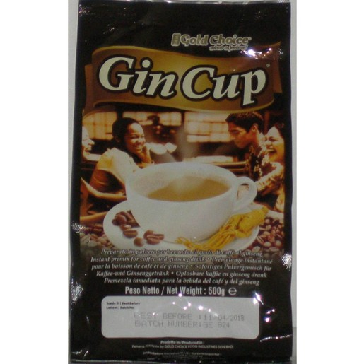 Excelsior Gin Cup Ginseng Coffee Στιγμιαίο Ρόφημα Καφέ με Βότανο Ginseng 500gr