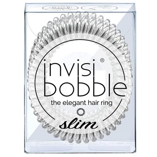 Invisibobble Slim Chrome Sweet Chrome Λαστιχάκι Μαλλιών 3 Τεμάχια
