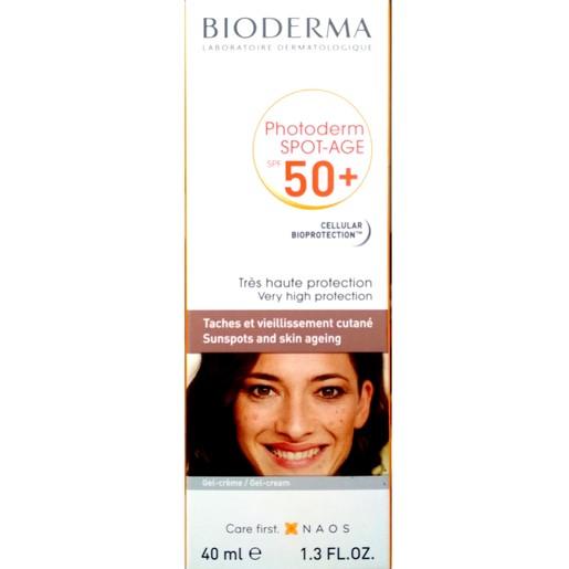 Bioderma Photoderm Spot Age Antioxidant Gel Cream Πολύ Υψυλή Προστασία Κατά των Πανάδων Spf50+, 40ml