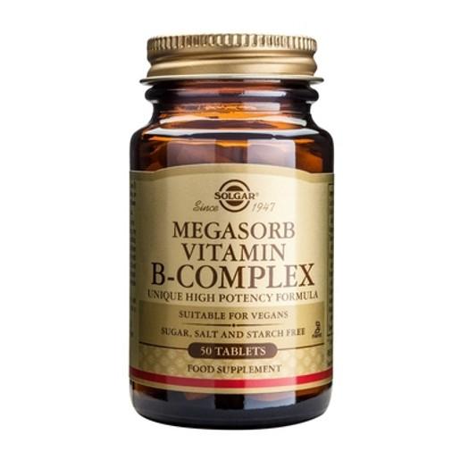 Solgar Megasorb B Complex '50' 50 tabs
