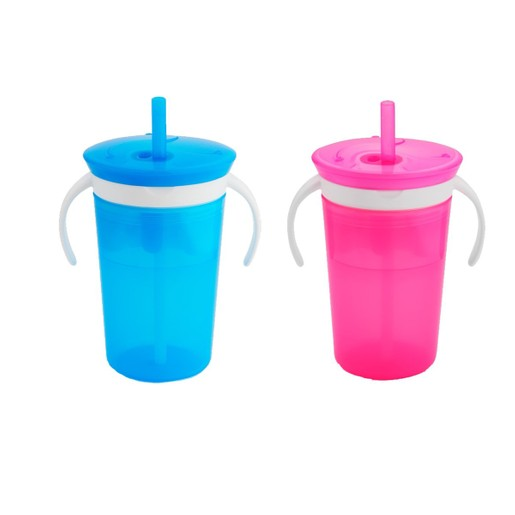 Munchkin Sippy Snack Cup Pink Ποτήρι 225ml & Πιατάκι 110ml
