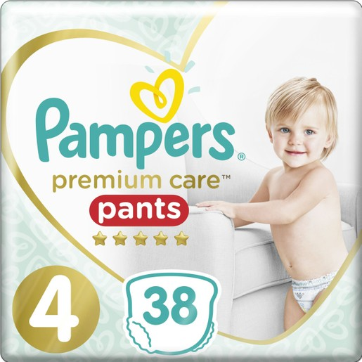 Pampers Premium Care Pants Jumbo Pack No4 (9-15kg) 38 πάνες