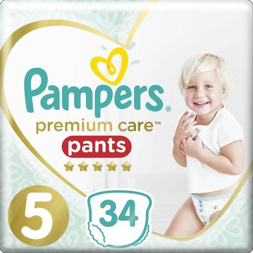 Pampers Premium Care Pants Jumbo Pack No5 (12-17kg) 34 πάνες