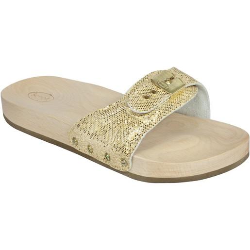 Dr Scholl Shoes Pescura Χρυσό Γυναικεία Ανατομικά Παπούτσια Χαρίζουν Σωστή Στάση & Φυσικό Χωρίς Πόνο Βάδισμα 1 Ζευγάρι