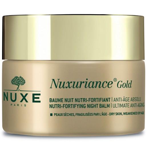 Nuxe Nuxuriance Gold Nutri-Fortifying Night Balm Πλούσια Κρέμα Νύχτας για Θρέψη & Απόλυτη Αντιγήρανση της Ξηρής Επιδερμίδας 50ml