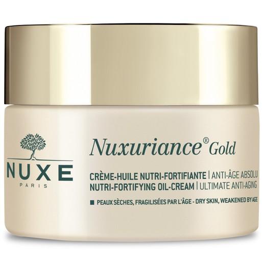 Nuxe Nuxuriance Gold Nutri-Fortifying Oil-Cream Πλούσια Κρέμα Ημέρας για Θρέψη & Απόλυτη Αντιγήρανση της Ξηρής Επιδερμίδας 50ml