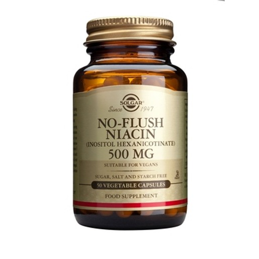 Νo Flush Niacin (B3) 500mg 50 veg.caps - Solgar
