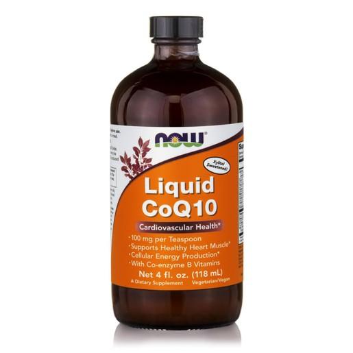 Now Foods CoQ10 Liquid Orange Flavor 100mg Συμπλήρωμα Διατροφής Συνένζυμο Q10 σε Υγρή Μορφή με Γεύση Πορτοκάλι 118ml