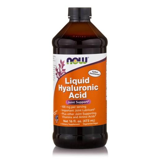 Now Foods Hyaluronic Acid Liquid 100mg Συμπλήρωμα Διατροφής Υγρή Μορφή Υαλουρονικού Οξέως Μέγιστης Απορρόφησης 473ml