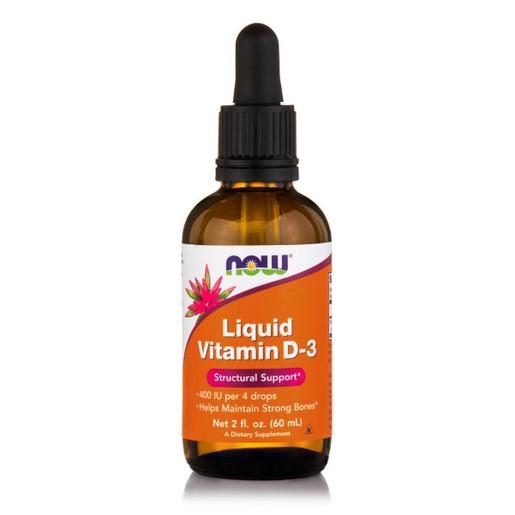 Now Foods Vitamin D3 Liquid 400 IU / 4 Drops Συμπλήρωμα Διατροφής Υψηλής Βιοδιαθεσιμότητας Υγρής Μορφής Βιταμίνης D3, 59.2ml