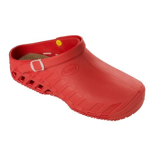 Scholl Shoes Clog Evo Κόκκινο Επαγγελματικά Παπούτσια, Χαρίζουν Σωστή Στάση & Φυσικό Χωρίς Πόνο Βάδισμα 1 Ζευγάρι