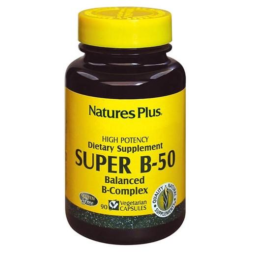 Nature's Plus Super B50 Φόρμουλα με Βιταμίνες Β 60Caps