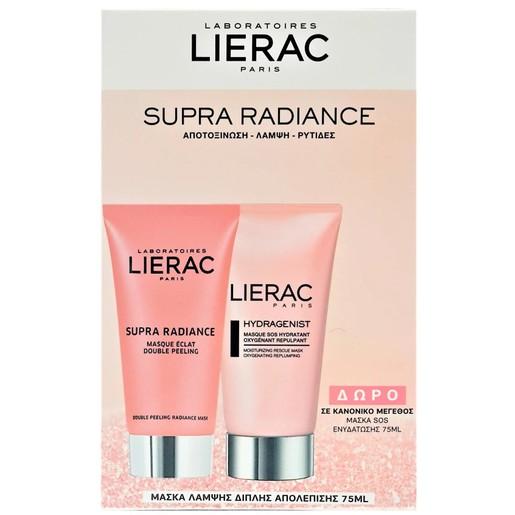 Lierac Πακέτο Προσφοράς Supra Radiance Masque Eclat Double Peeling Μάσκα Απολέπισης 75ml & Δώρο Hydragenist Masque S.O.S 75ml