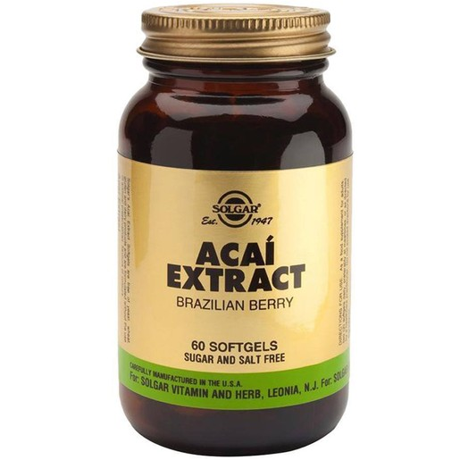 Solgar Acai Extract 60 softgels