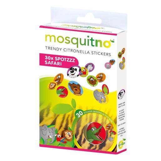 MosquitNo Trendy Citronella SpotZzz Safari Αυτοκόλλητα με Άρωμα Σιτρονέλλας 30 Τεμάχια
