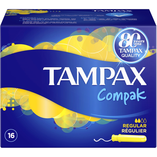 Tampax Compak Regular για τις Ημέρες με Ελαφριά Έως Μέτρια Ροή 16τμχ