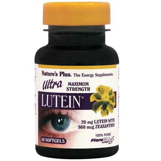 Nature\'s Plus Ultra Lutein 20mg Βιταμίνες Ματιών 60 Softgels