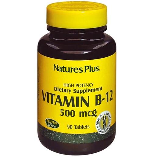 Nature\'s Plus Vitamin B-12 500mcg Για την Τόνωση του Νευρικού Συστήματος 90tabs